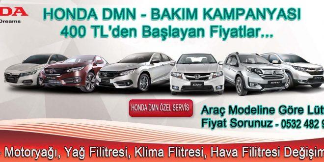 Honda Otomobil Bakım Kampanyası